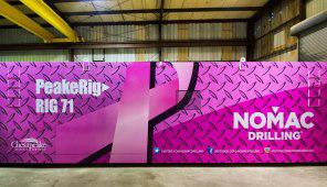 pinkwashing drill rig