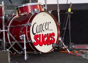Cancer Sucks drumset